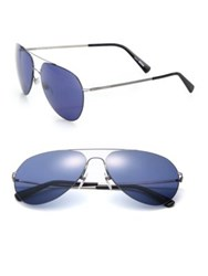 Montblanc 60Mm Thin Metal Aviators Blue