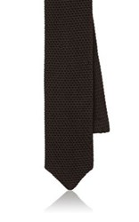 Boglioli Men's Silk Knit Necktie Grey