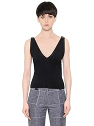 Calvin Klein Ribbed Wool Blend Knit Top