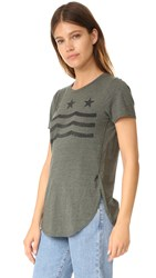 Sol Angeles Star Waves Overlap Tee Military