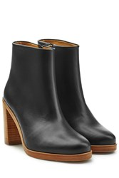 A.P.C. Leather Ankle Boots Black