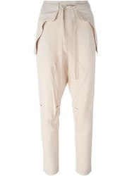Chloa Flap Detail Trousers Nude And Neutrals