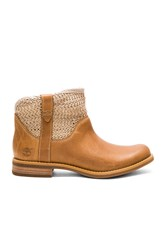Timberland Savin Hill Leather And Fabric Ankle Boot Tan