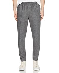 Carven Drawstring Wool Flannel Pants Gris