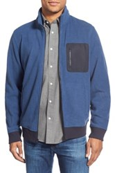 Wallin And Bros 'Douglas' Trim Fit Fleece Zip Front Jacket Blue