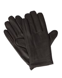 Armani Jeans Brown Aj Logo Leather Gloves