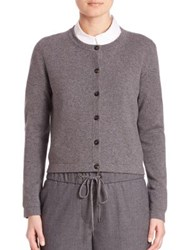 Peserico Short Cardigan Charcoal