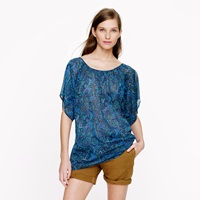 J.Crew Caftan Tunic In Cove Paisley
