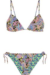 Etro Reversible Printed Triangle Bikini