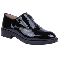 Unisa Belus Flat Brogues Black Patent Leather