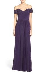 La Femme Women's Embellished Off The Shoulder Gown