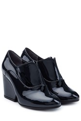 Robert Clergerie Patent Leather Ankle Boots Blue