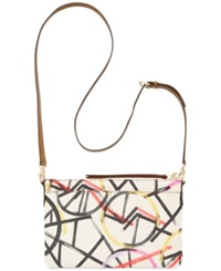 Fossil Sydney Top Zip Shoulder Bag Bright Multi