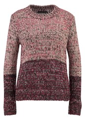 Evenandodd Jumper Berry Dark Grey