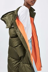 Boutique The Glow Worm Puffer Jacket By Khaki
