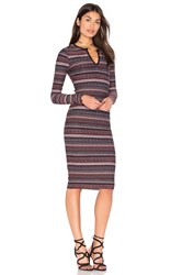 Twenty Division Stripe Dress Red