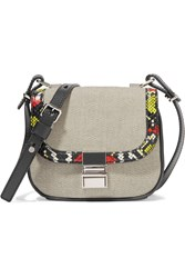 Proenza Schouler Kent Tiny Ayers And Leather Trimmed Canvas Shoulder Bag