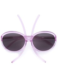 Selima Optique 'Insect X Paola Pivi' Sunglasses Pink And Purple