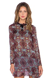 For Love And Lemons Geneva Blouse Burgundy