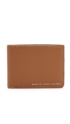 Marc By Marc Jacobs Classic Leather Martin Wallet Caramel Brown