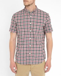 Denim And Supply Ralph Lauren Blue And Red Checked Oxford Short Sleeve Shirt