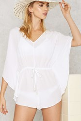 Nasty Gal Holy Plunge Batwing Romper