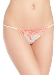 Wacoal Embrace Lace Thong Naturally Nude Black Delicious White Antique White
