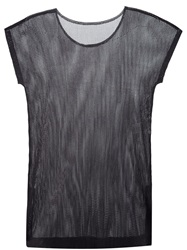 Pleats Please By Issey Miyake Long Sheer T Shirt Blue
