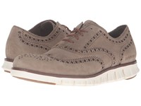 Cole Haan Zerogrand Wing Oxford Desert Taupe Suede Ivory Men's Lace Up Casual Shoes Brown