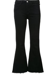 Mih Jeans Cropped Flared Black