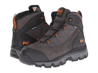 Timberland Rockscape 6 Steel Safety Toe Waterproof Mid Grey Suede Orange Pops Men's Work Lace Up Boots Black