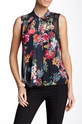 Sweet Pea Sleeveless Printed Blouse Multi