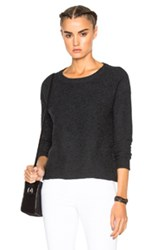 James Perse Cashmere Cropped Sweater In Gray