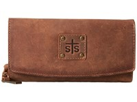 Sts Ranchwear The Baroness Tri Fold Wallet Brown Wallet Handbags