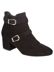 Phase Eight Sanita Buckle Ankle Boots Black