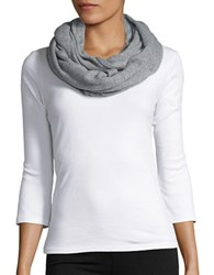 Lord And Taylor Cashmere Infinity Loop Scarf Grey