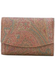 Etro Paisley Print Purse Multicolour