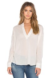 James Perse Chiffon Stretch Pullover Tunic Ivory