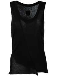 Rta Wrap Detail Vest Black