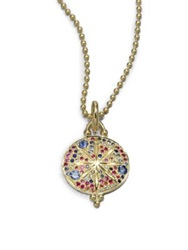Temple St. Clair Celestial Multicolor Sapphire And 18K Yellow Gold Sorcerer Pendant Gold Multi