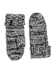 Rella Wool Blend Knit Insulated Mittens Black