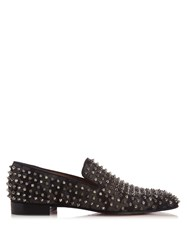 Christian Louboutin Dandelion Camouflage Spike Loafers Grey Multi
