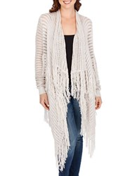 Lucky Brand Knit Open Front Jacket Putty