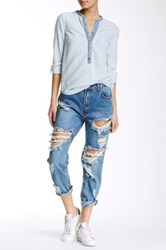 One Teaspoon Awesome Relaxed Leg Jean Blue