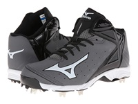 Mizuno 9 Spike Advanced Swagger 2 Mid Grey Black Men's Cleated Shoes Gray