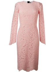 Marco Bologna Lace Sheath Dress Pink And Purple