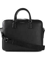 Ermenegildo Zegna Pebbled Briefcase Black