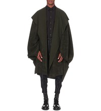 Vivienne Westwood Oversized Wool Blend Cape Green Ironwork