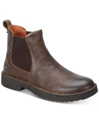 Born Men's Porto Plain Toe Boots Men's Shoes Dark Brown