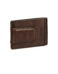 Fossil Magnetic Multi Card Leather Wallet Brown